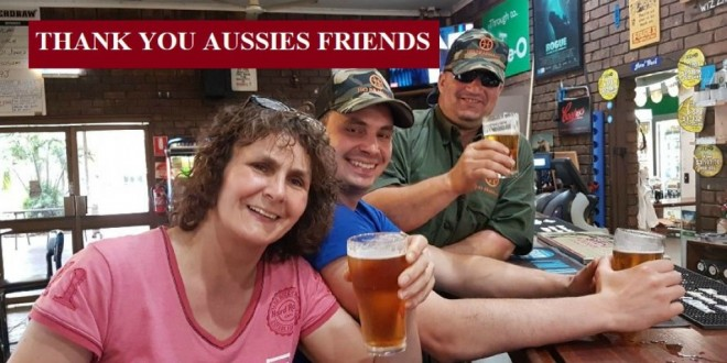 International Guests say Thank you to Aussie Friends