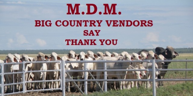 M.D.M. BIG COUNTRY VENDORS SAY THANK YOU